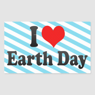 I love Earth Day Stickers