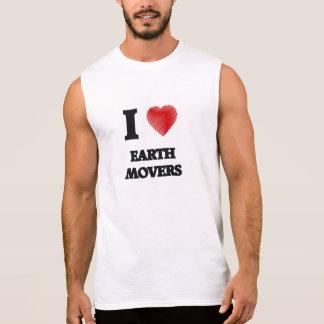 I love EARTH MOVERS Sleeveless Tees