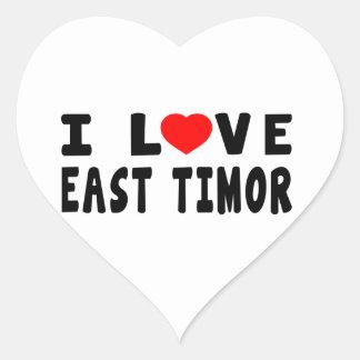 I Love East Timor Heart Sticker