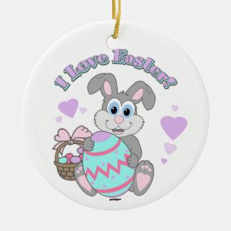 I Love Easter! Easter Bunny Ornament
