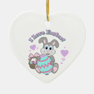 I Love Easter! Easter Bunny Christmas Ornament