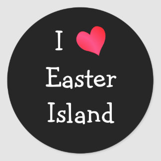 I Love Easter Island Classic Round Sticker
