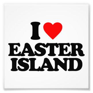 I LOVE EASTER ISLAND PHOTO PRINT
