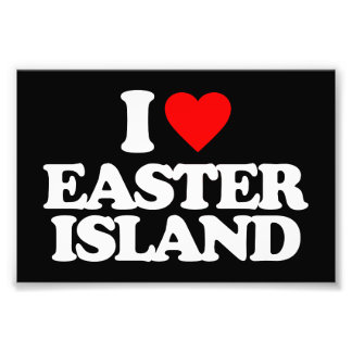 I LOVE EASTER ISLAND PHOTO