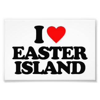 I LOVE EASTER ISLAND PHOTOGRAPH