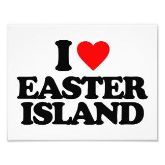 I LOVE EASTER ISLAND PHOTOGRAPHIC PRINT