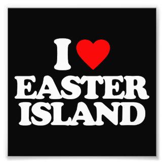 I LOVE EASTER ISLAND PHOTO ART