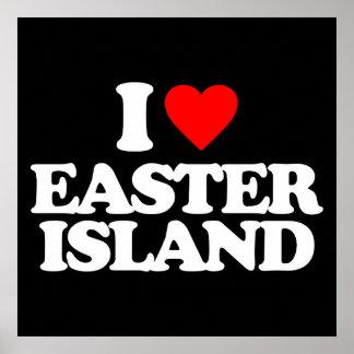 I LOVE EASTER ISLAND PRINT
