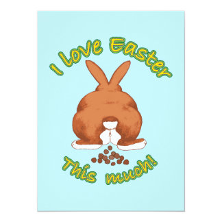 I Love Easter This Much 14 Cm X 19 Cm Invitation Card