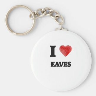 I love EAVES Basic Round Button Key Ring
