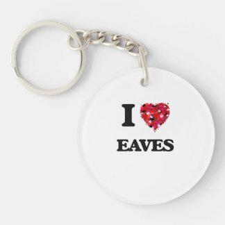 I love EAVES Single-Sided Round Acrylic Key Ring