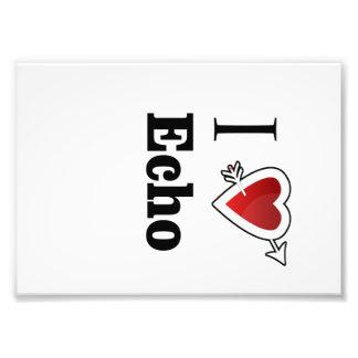 i love echo heart photo art