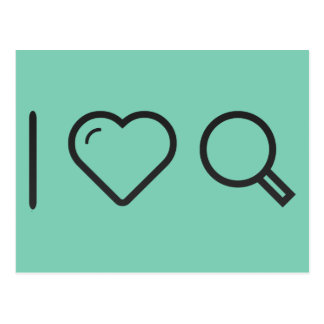 I Love Ecommerce Researches Postcard