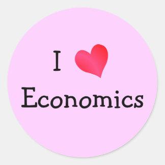 I Love Economics Round Sticker