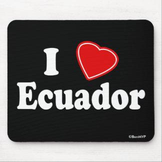 I Love Ecuador Mouse Pad