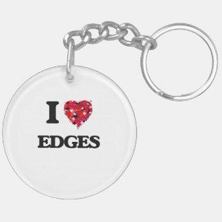 I love EDGES Double-Sided Round Acrylic Key Ring