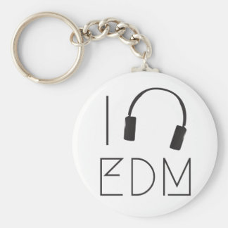 I love EDM Key Ring