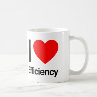 i love efficiency coffee mug