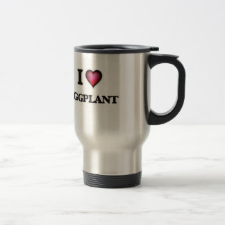 I Love Eggplant Travel Mug