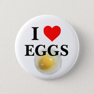 I Love Eggs 6 Cm Round Badge