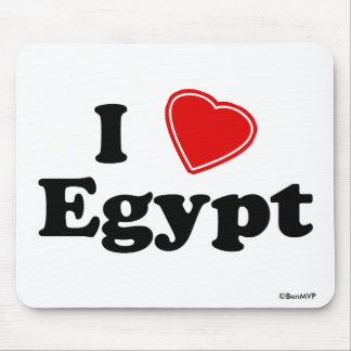 I Love Egypt Mouse Pads