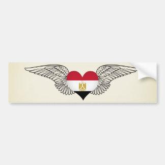 I Love Egypt -wings Bumper Sticker