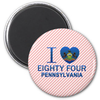 I Love Eighty Four PA Fridge Magnets