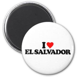 I LOVE EL SALVADOR 6 CM ROUND MAGNET