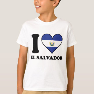 I Love El Salvador El Salvadorian Flag Heart T-Shirt