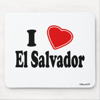 I Love El Salvador Mouse Pad