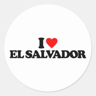 I LOVE EL SALVADOR STICKERS