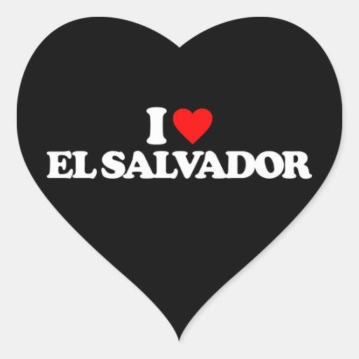 I LOVE EL SALVADOR HEART STICKER