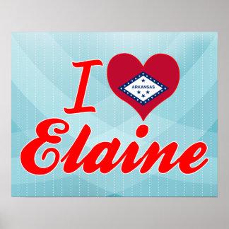 I Love Elaine Arkansas Print