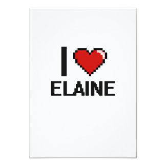 I Love Elaine Digital Retro Design 13 Cm X 18 Cm Invitation Card