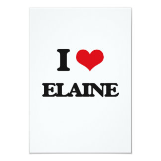 I Love Elaine 9 Cm X 13 Cm Invitation Card