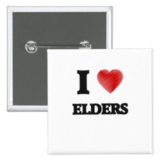I love ELDERS 15 Cm Square Badge