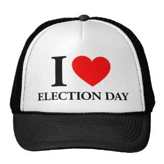 I Love Election Day Trucker Hats