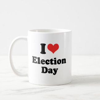 I LOVE ELECTION DAY - .png Classic White Coffee Mug