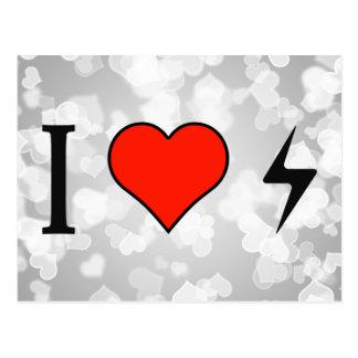 I Love Electric Currents Postcard