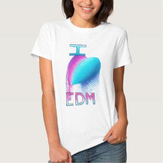 I Love Electronic Dance Music Tee Shirts