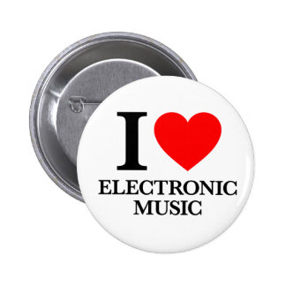 I Love Electronic Music Buttons