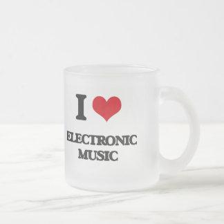 I Love ELECTRONIC MUSIC Coffee Mugs