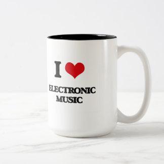 I Love ELECTRONIC MUSIC Mugs