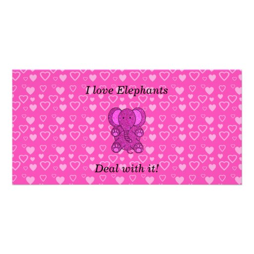 I love elephants deal with it personalized photo card