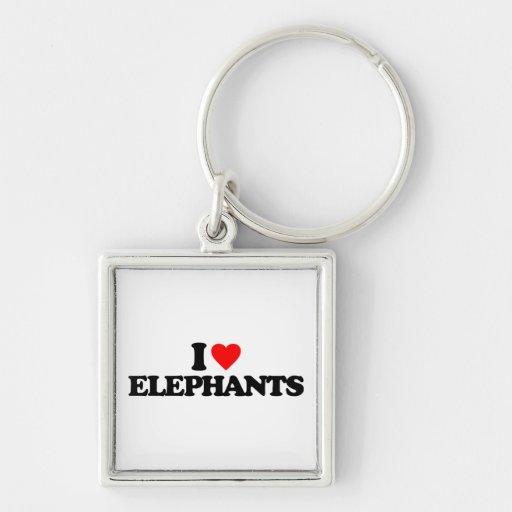 I LOVE ELEPHANTS KEY CHAIN