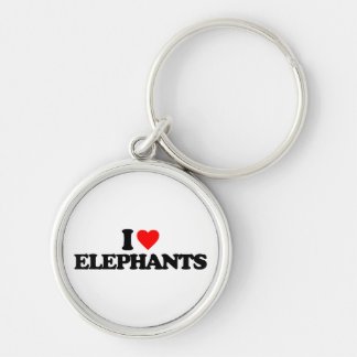 I LOVE ELEPHANTS KEY CHAINS