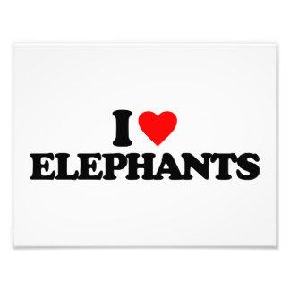 I LOVE ELEPHANTS PHOTO