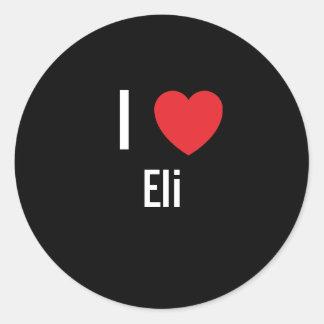 I love Eli Classic Round Sticker