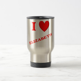 I Love Elizabeth Travel Mug