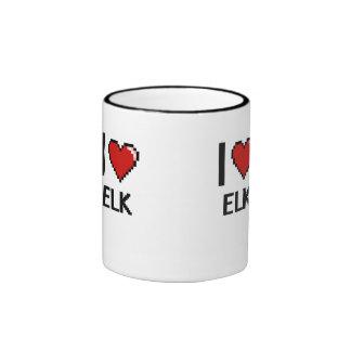 I love Elk Digital Design Ringer Mug